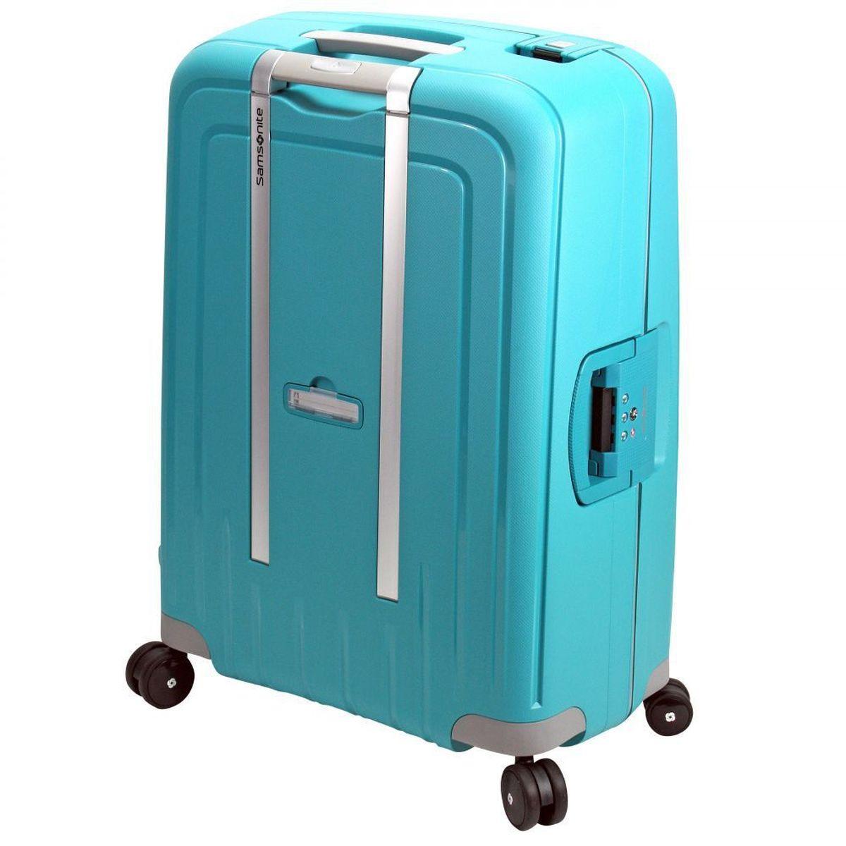 samsonite s 39 cure 55cm spinner aqua blue handbag and luggage. Black Bedroom Furniture Sets. Home Design Ideas
